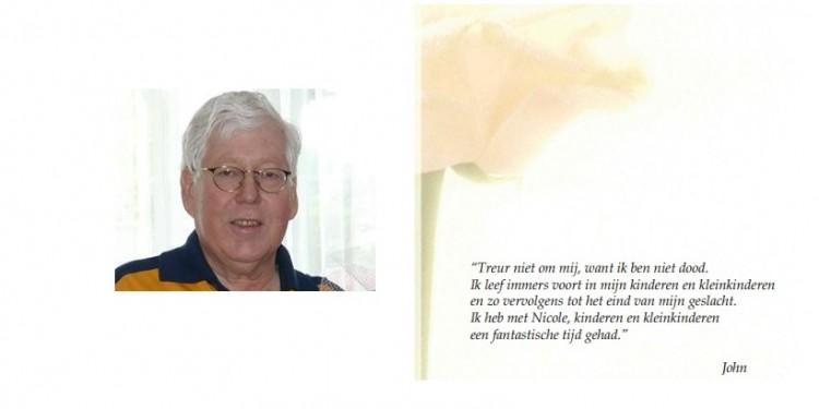 JohnScheerstra overleden