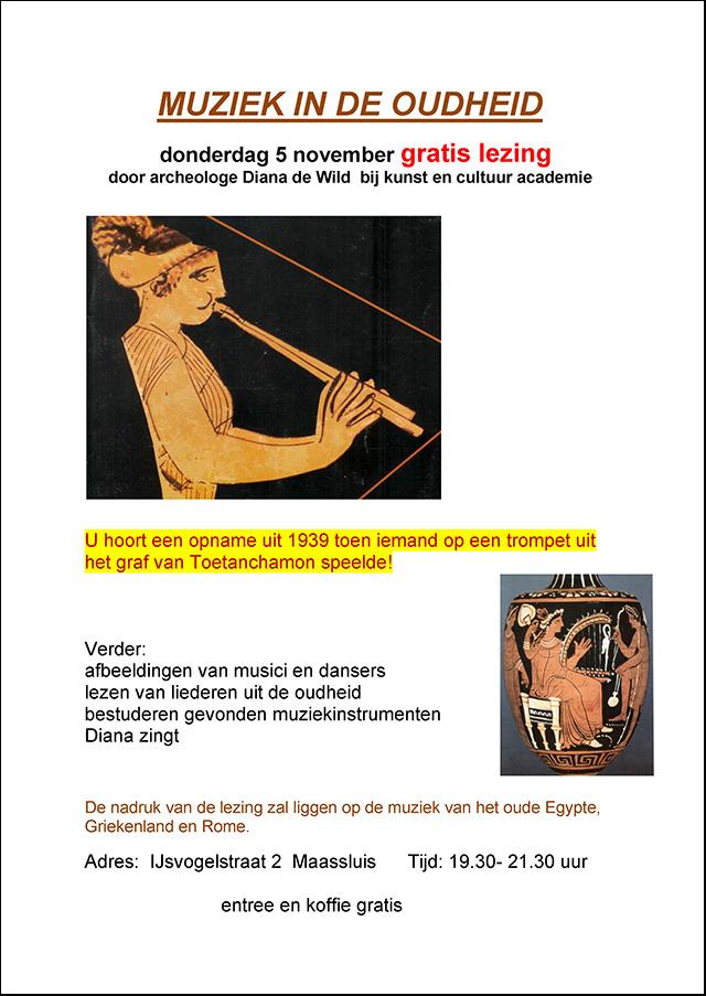 affiche diana muziek in de oudheid