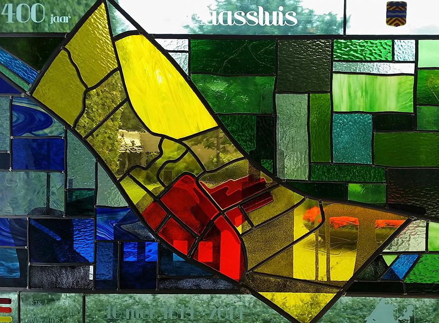 foto glas-in-loodraam 400 jaar Maassluis